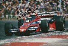 John Watson Firmato a Mano Foto 12x8 McLaren, BRABHAM f1 12.