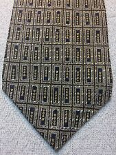 CALVIN KLEIN MENS TIE 4 X 57 GOLD WITH BLUE AND BROWN