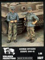 Verlinden Productions 1:35 German Officers Europe 1944-45 Two Resin Figure #1027