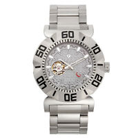 Croton Men's CA301284SSGY Vortex Automatic Open Heart Window 48mm Watch