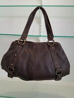 MAURIZIO TAIUTI Leather Hobo Shoulder Bag Purse Brown Made in Italy