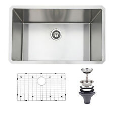 """30""""x18'' Stainless Steel Kitchen Sink 16 Gauge Single Bowl Undermount 10'' Deep"""