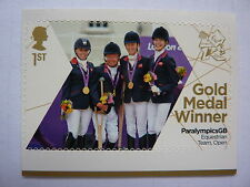 TEAM GB GOLD TEAM EQUESTRIAN OPEN 1ST CLASS STAMPS