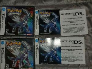 Pokemon Diamond - Authentic OEM - EXCELLENT - Case Box Art Manual Inserts
