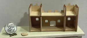 Vintage Artisan Wood Castle To Finish For Childs Room Dollhouse Miniature 1:12