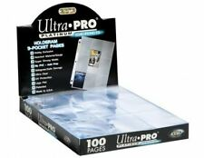 More details for ultra pro platinum 9 pocket pages a4 pokemon mtg trading card sleeves 10-100