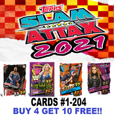 Topps WWE SLAM ATTAX 2021 CARDS  #1-204  BUY 4 GET 10 FREE  SUPERSTARS TAG TEAMS