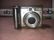 ! Canon PowerShot A570 IS 7.1 MP 4X Optical Zoom Digital Camera tested works