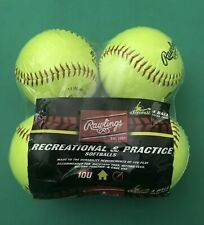 Rawlings Softballs Pack of 4, 11 In .44 Cor 375 Comp Ywcs11