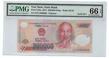 PMG 66 EPQ , DT11 888888 2011 VIETNAM 200000 Dong Polymer Solid No. Note 888888