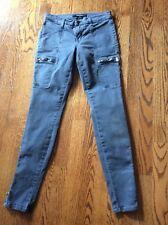 J Brand Womens Cargo Pants Skinny Ankle Zipper Size 25 Gray