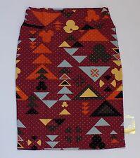 XL LuLaRoe Disney Cassie Skirt Minnie Mouse Mauve Pink Black Geometric Aztec