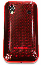 New Design Samsung Galaxy Ace S5830 Silicone Gel Diamond Case - Red