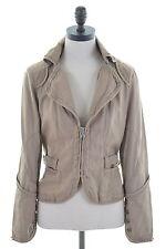 LIU JO Womens Denim Jacket Size 12 Medium Brown Cotton