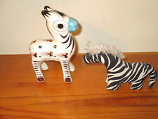 zebra and donkey figurines (2) two of them one is fabric one is ceramic