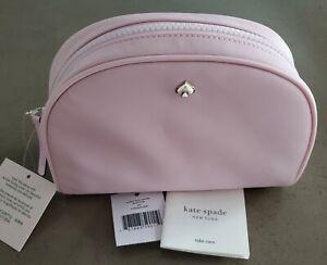 NWT KATE SPADE JAE Nylon Medium Dome Cosmetic Bag SERENDIPITY PINK