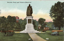 Cannons In Park & Victoria Memorial, CARLISLE, Cumberland