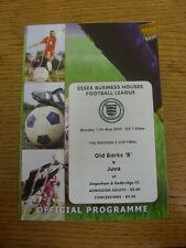 11/05/2009 Essex Business Houses League Division 2 Cup Final: Old Barks B v Juva