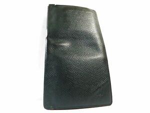 Louis Vuitton Taiga Khaki Bifold Wallet Bill Card Long Case Coin Folder Purse