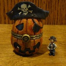 Boyds Treasure Box #4022272 PEGLEG'S PIRATE JACK-O-LANTERN w/ PATCH McNIBBLE 1Ed