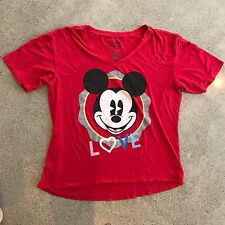 Mickey Mouse Red Disneyland Resort Plus Size Graphic Size Xx Large T-Shirt