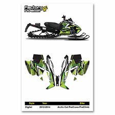 2012-2014 ARCTIC CAT PROCROSS PROCLIMB GRAPHIC KIT DIGITAL STYLE  BY ENJOY MFG