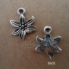 P091 20pcs Tibetan Silver Beads Charms flowers retro Accessories Wholesale