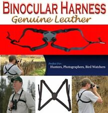 Binocular Harness Camera Range Finder Universal Leather Elastic QR Clips Hunting