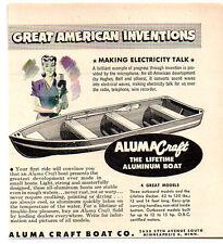 1949 Vintage Ad Aluma Craft The Lifetime Aluminum Boat Minneapolis,MN