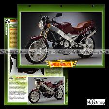 #093.03 Fiche Moto APRILIA 125 EUROPA 1991-94 Motorcycle Card