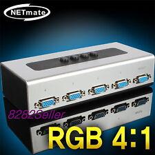 4 Port Monitor Switch Manual Selector Box RGB Splitter VGA 4:1 QWXGA 2048X1152
