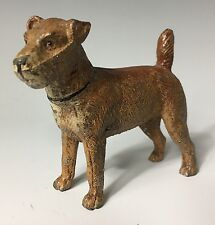 19th C. Vienna Bronze Style Miniature Cold enamel Irish Terrier dog figurine