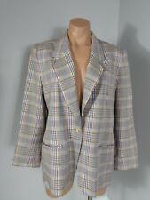Pendleton Vintage blazer Size 12 Plaid Gray Purple Pink