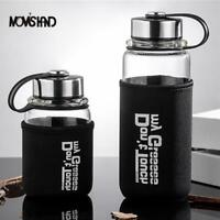 Large Capacity Glass Tea Bottle High Glass Portable Outdoor Office Water Bottle