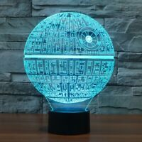 Star Wars Night Light Lamp Touch Table 3D Novelty Led Death Star  Discoloration