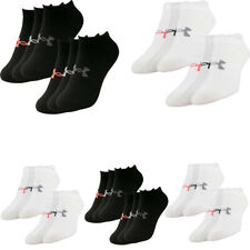 Under Armour Womens 3 Pairs No Show Ankle Socks Essentials Low Ladies Socks