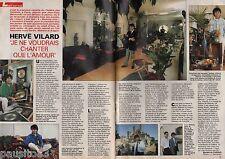 Coupure de presse Clipping 1992 Hervé Vilard   (2 pages)