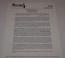 Nocturnus The Key Band Biography Rare Vintage 1991 Comat Earache Records HTF OOP