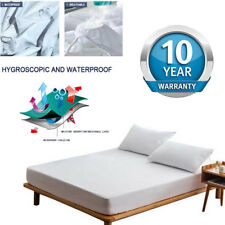 King Queen Twin Waterproof Mattress Protector Bed Bug Fitted Deep Pad Cover