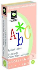 *New* LYRICAL LETTERS Font Text Cricut Cartridge Factory Sealed Free Ship