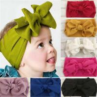 Toddler Girl's Baby Big Bow Hairband Headband Stretch Turban Knot Head Wrap