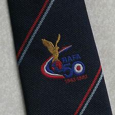 ROYAL AIR FORCES ASSOCIATION TIE RAFA R.A.F.A.  VINTAGE NAVY RAFA 1990s 50 YEARS