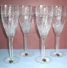 Waterford LAUREL Champagne Flutes SET/4 Crystal Made in Ireland 117888 Boxed New
