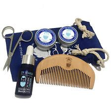 Dr Beard Mens Grooming Kit 6 Piece Set Organic - Pure Sandalwood Mens Gift
