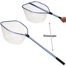 Telescopic Landing Net  Fly Fishing Net Soft Rubber Fishing Nets Fishing Tackle