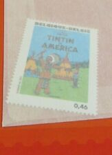 TINTIN STAMP TINTIN IN AMERICA  KUIFJE HERGE 100th ANNIVERSARY 2007 KNACK