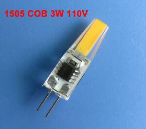 G4 Bi-Pin T3 COB 1505 LED bulb Warm/White Cabinet light 110~120V Silicone Lamp
