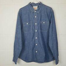 Dockers Men's Denim Button Up Shirt, Size Large
