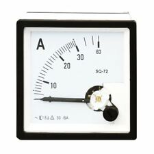 1PC SQ-72 Class 1.5 AC 30/5A Square Analog Panel AMP Current Meter Ammeter Gauge