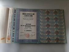 Lot de 115 actions au porteur - Biscotterie Astridor - 100 nouveaux francs